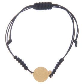 Armband wunderbare Medaille und schwarzen Zirkonen Silber 925 s2