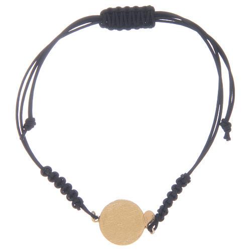 Armband wunderbare Medaille und schwarzen Zirkonen Silber 925 2