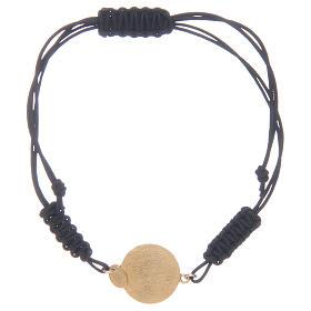 Pulsera cuerda Medalla Milagrosa cuerda circones transparentes plata 925 s2