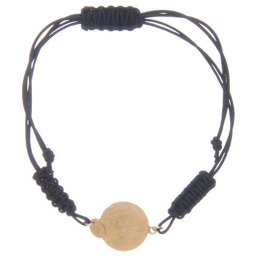 Pulsera cuerda Medalla Milagrosa cuerda circones transparentes plata 925 2
