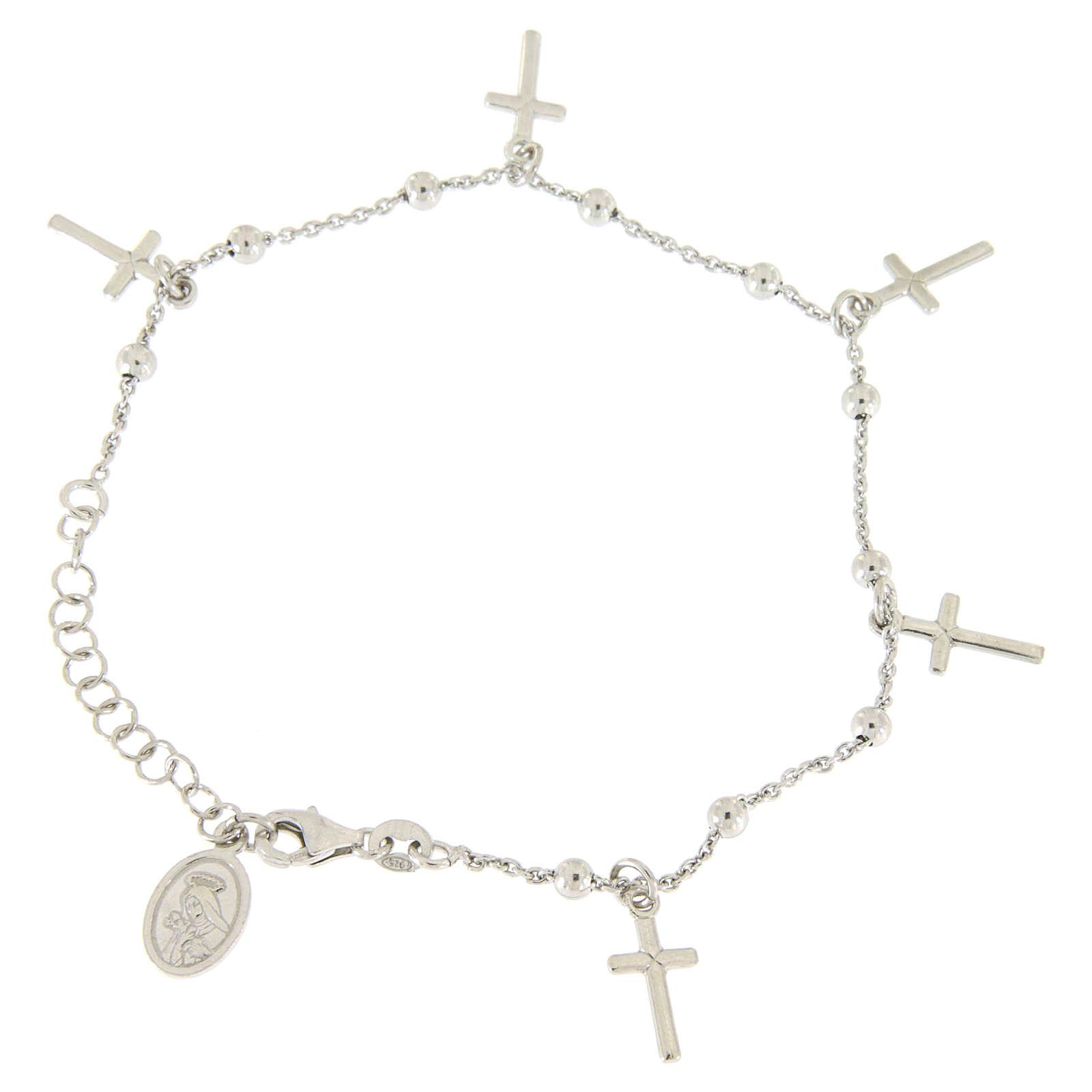 Bracciale pendenti e croce argento 925 4
