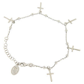 Bracciale pendenti e croce argento 925 s1
