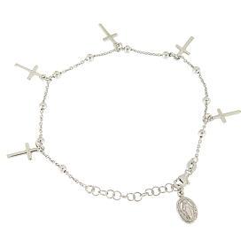Bracciale pendenti e croce argento 925 s2