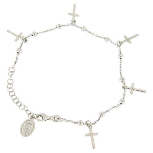Bracciale pendenti e croce argento 925 1