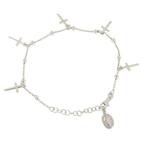 Bracciale pendenti e croce argento 925 2