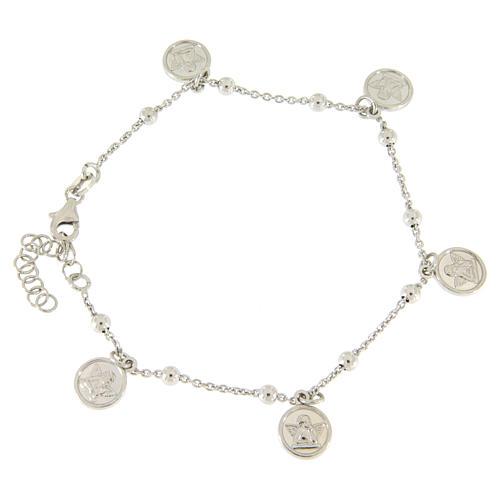 b215f35fe430 Pulsera colgantes angelitos plata 925