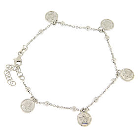 Silver bracelets: Bracelet with pendant angels in 925 sterling silver