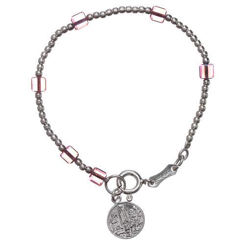 Our Lady of Fatima bracelt for child with Swarovski crystal 1