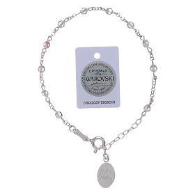 Pulsera plata 925 y esferas Swarovski Virgen de Fátima s5