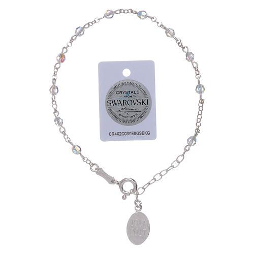 Pulsera plata 925 y esferas Swarovski Virgen de Fátima 5