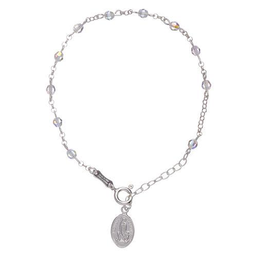 Bracciale arg 925 e sfere Swarovski Madonna di Fatima 3