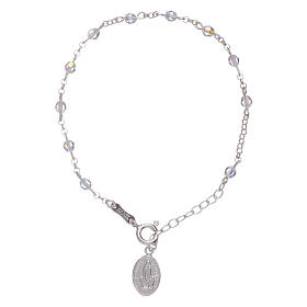 Bracelet in 925 sterling silver with Swarovski spheres Our Lady of Fatima s3