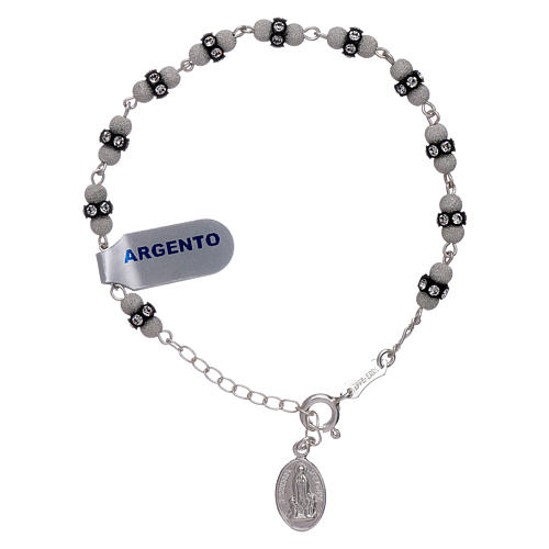 Pulsera de plata 925 diamantada y Swarovski Virgen de Fátima 1