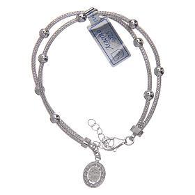 5c213ff23b8 ... Pulseiras de Prata  Pulseira em prata 925 radiada medalha Milagrosa com  strass