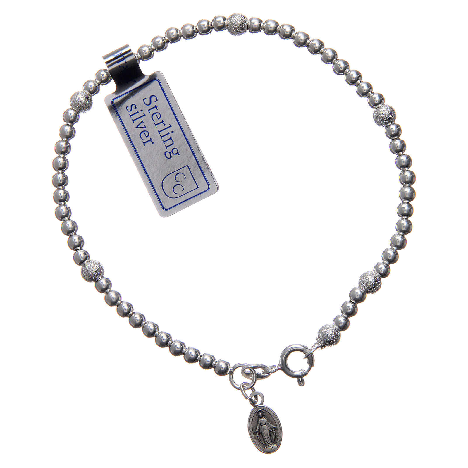 925 sterling silver bracelet with Our Lady of Miracles medal 4