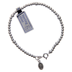 925 sterling silver bracelet with Our Lady of Miracles medal s1