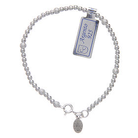 925 sterling silver bracelet with Our Lady of Miracles medal s2