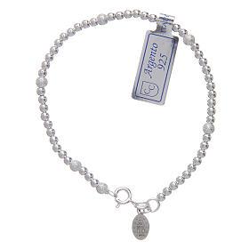 Bracciale  in argento 925 con medaglia Miracolosa