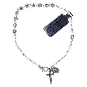 Silver bracelets: Bracelet in 925 sterling silver with Our Lady of Miracles medal 4 mm
