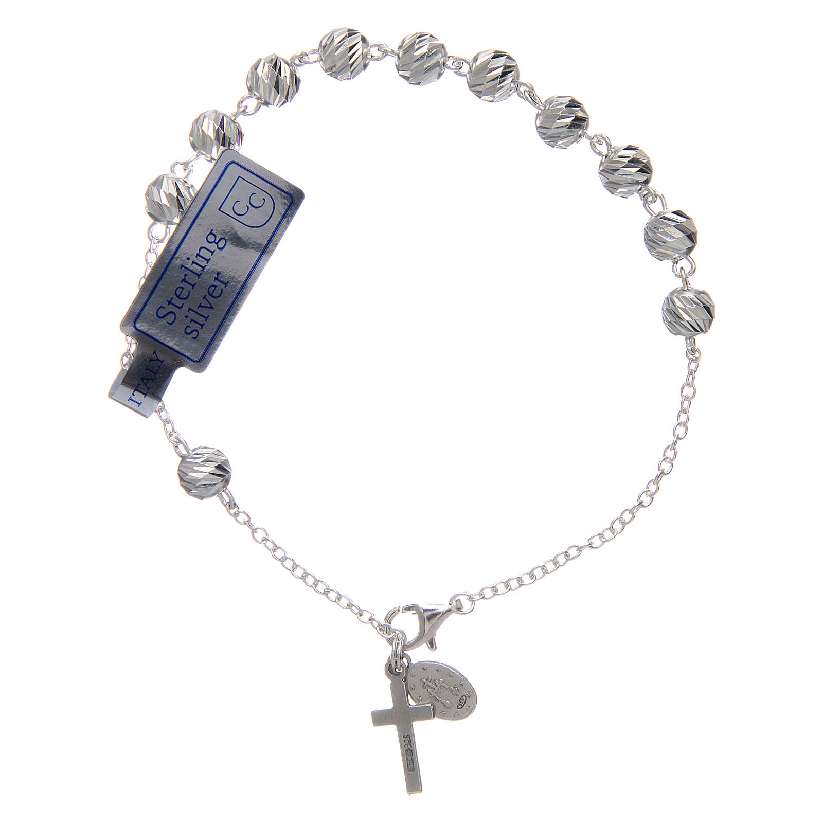 Bracelet argent 925 avec médaille Miraculeuse et croix 4