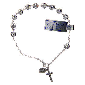 Bracelet argent 925 avec médaille Miraculeuse et croix s1
