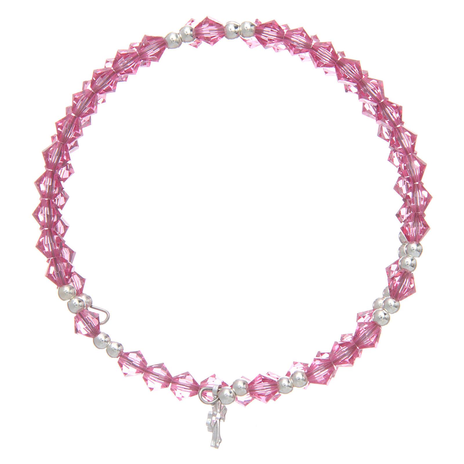 Spiral bracelet with pink Swarovski crystals 4