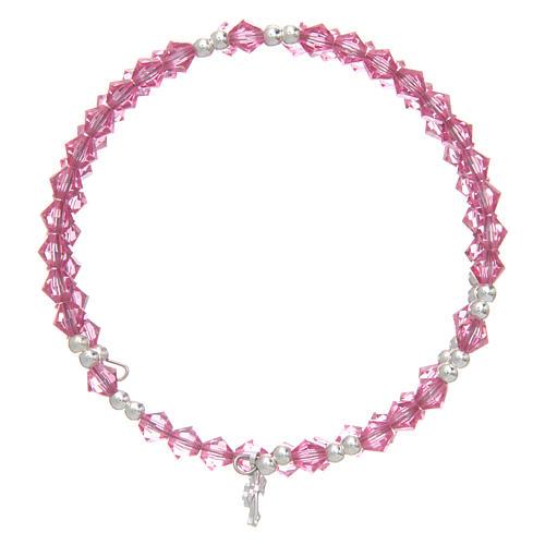 Spiral bracelet with pink Swarovski crystals 2