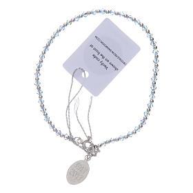 Bracciale argento e Swarovski azzurro 100° anniversario Fatima 3 mm s2