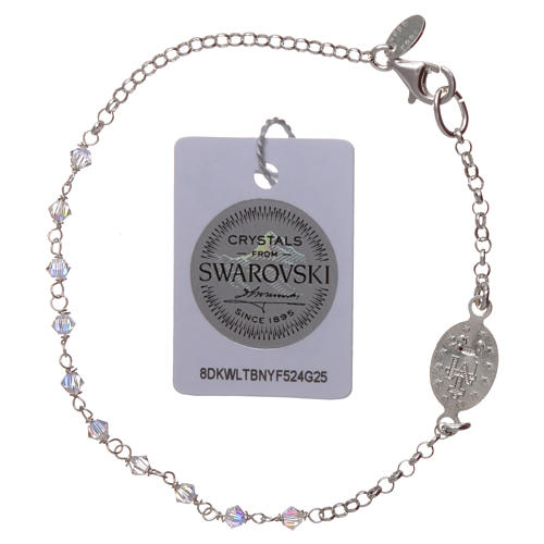 Bracciale argento 925 e Swarovski trasparenti 2