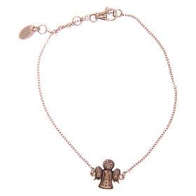 Bracelet AMEN argent 925 ange rosé zircons blancs s2