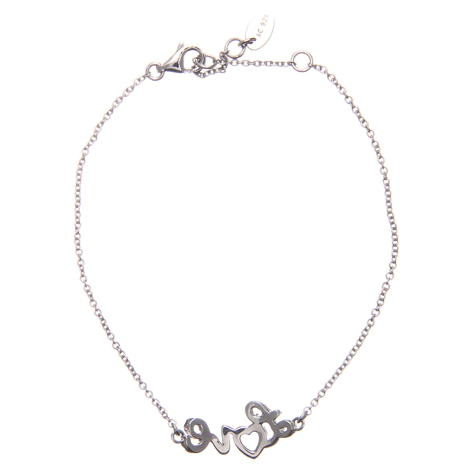 Bracelet AMEN argent 925 rhodié LOVE zircons blancs 4