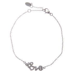 Bracelet AMEN argent 925 rhodié LOVE zircons blancs s1