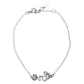 Bracelet AMEN argent 925 rhodié LOVE zircons blancs s2