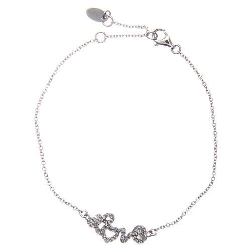 Bracelet AMEN argent 925 rhodié LOVE zircons blancs 1