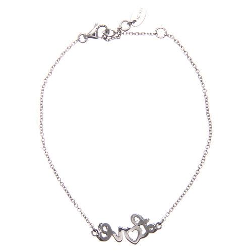 Bracelet AMEN argent 925 rhodié LOVE zircons blancs 2