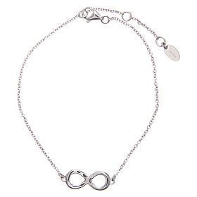Bracelet AMEN argent 925 rhodié infini zircons blancs s2