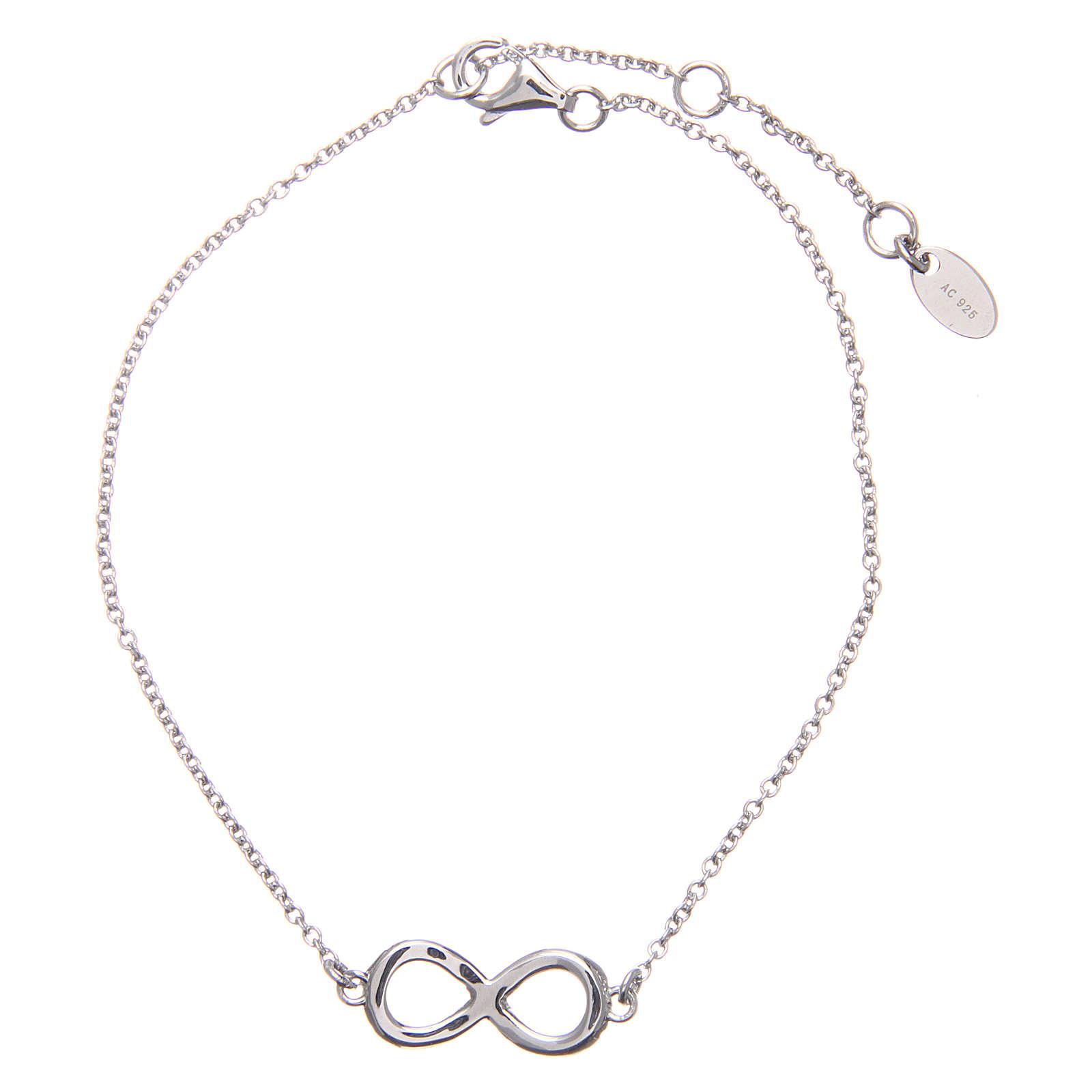Bracciale AMEN argento 925 rodiato infinito zirconi bianchi 4