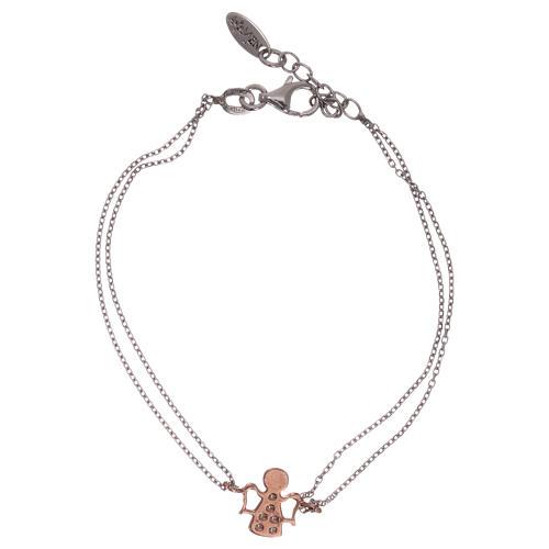 Bracciale AMEN arg 925 rodiato/rosé angelo zirconi bianchi 2