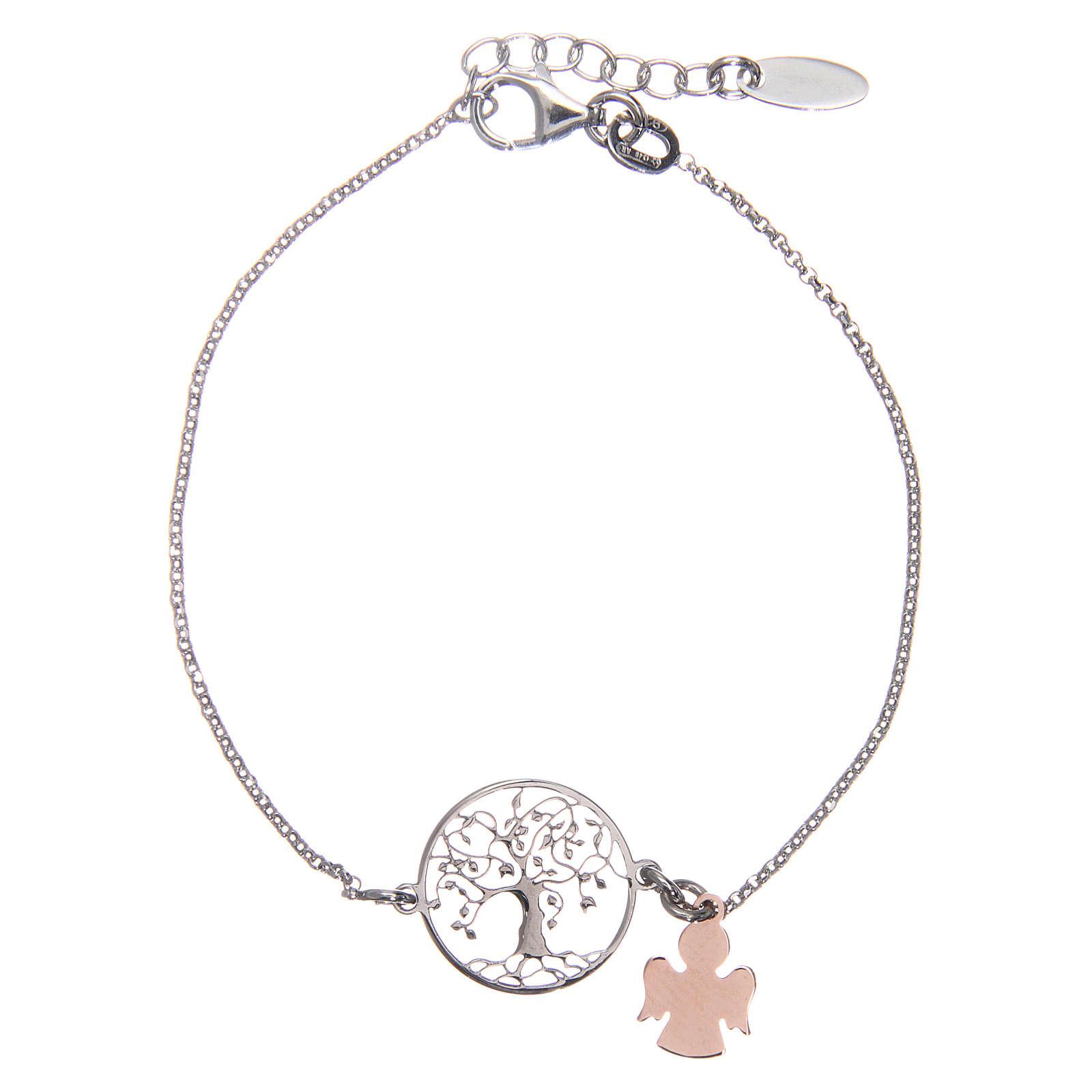 Bracelet AMEN argent 925 rhodié/rosé arbre de la vie 4