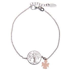 Bracelet AMEN argent 925 rhodié/rosé arbre de la vie s1