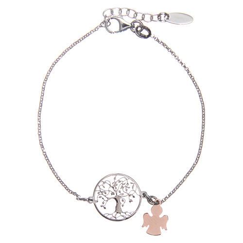 Bracelet AMEN argent 925 rhodié/rosé arbre de la vie 1