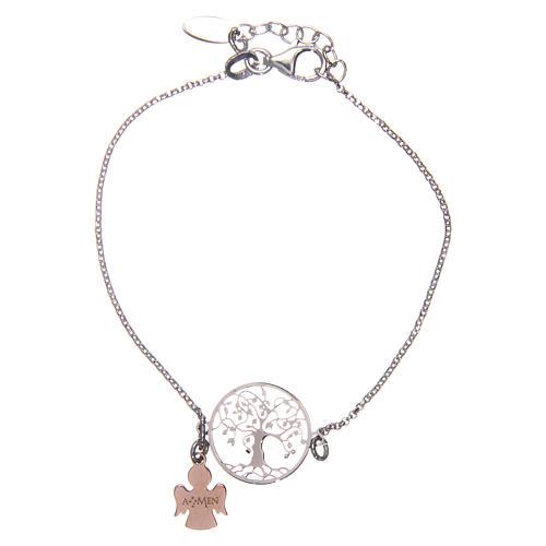 Bracelet AMEN argent 925 rhodié/rosé arbre de la vie 2