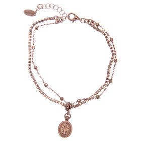 Bracelet AMEN argent 925 rosé zircons blancs Miraculeuse s2
