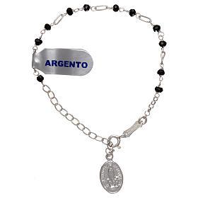 Bracelet argent 925 et zircons noirs s1