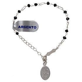 Bracelet argent 925 et zircons noirs s2