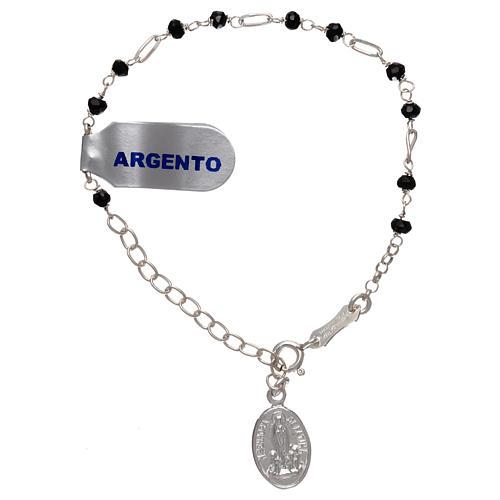 Bracelet argent 925 et zircons noirs 1