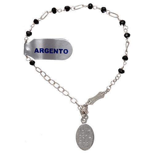 Bracelet argent 925 et zircons noirs 2