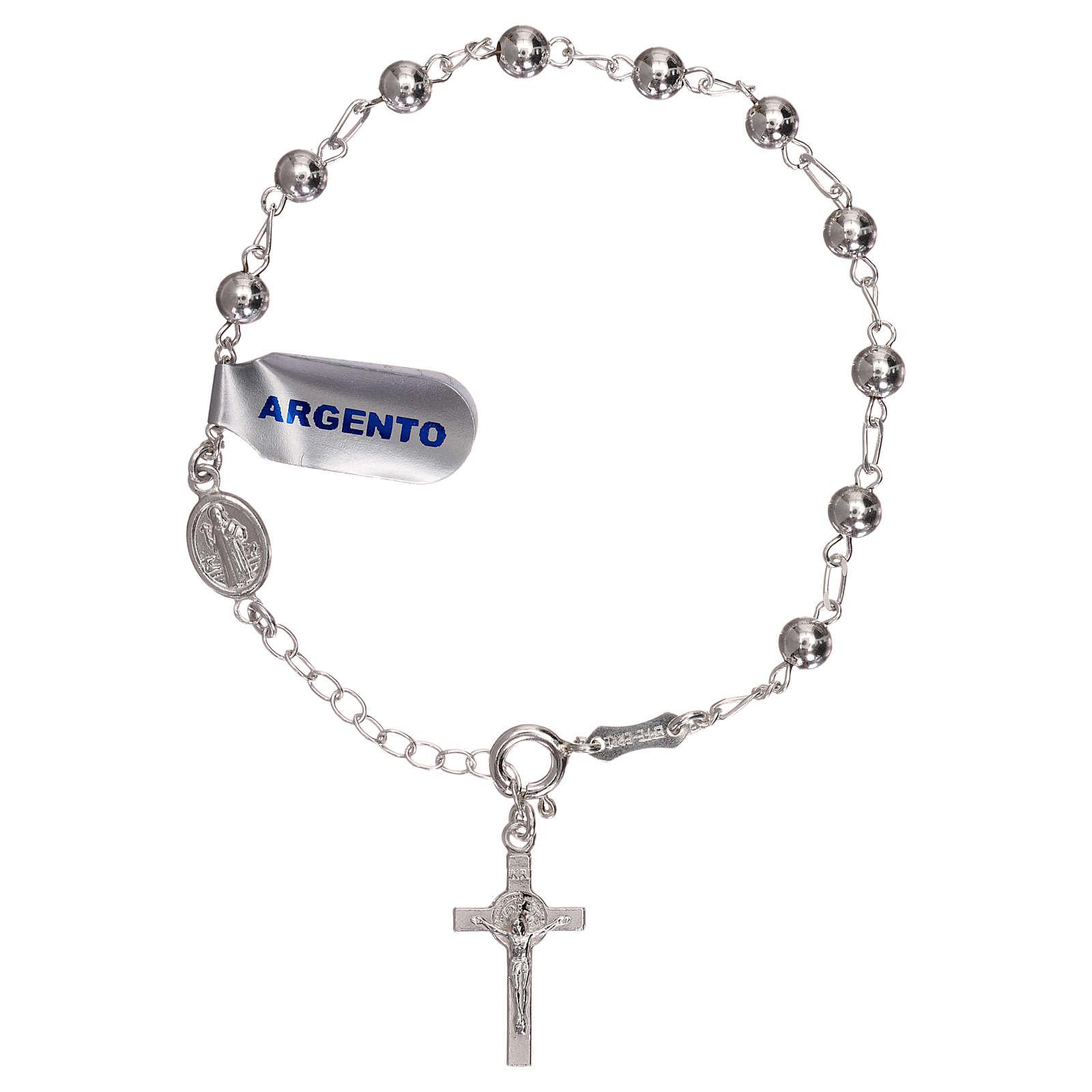 Pulsera rosario pater S. Benito plata 925 4
