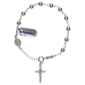 Bracelet chapelet pater St Benoît argent 925 s1