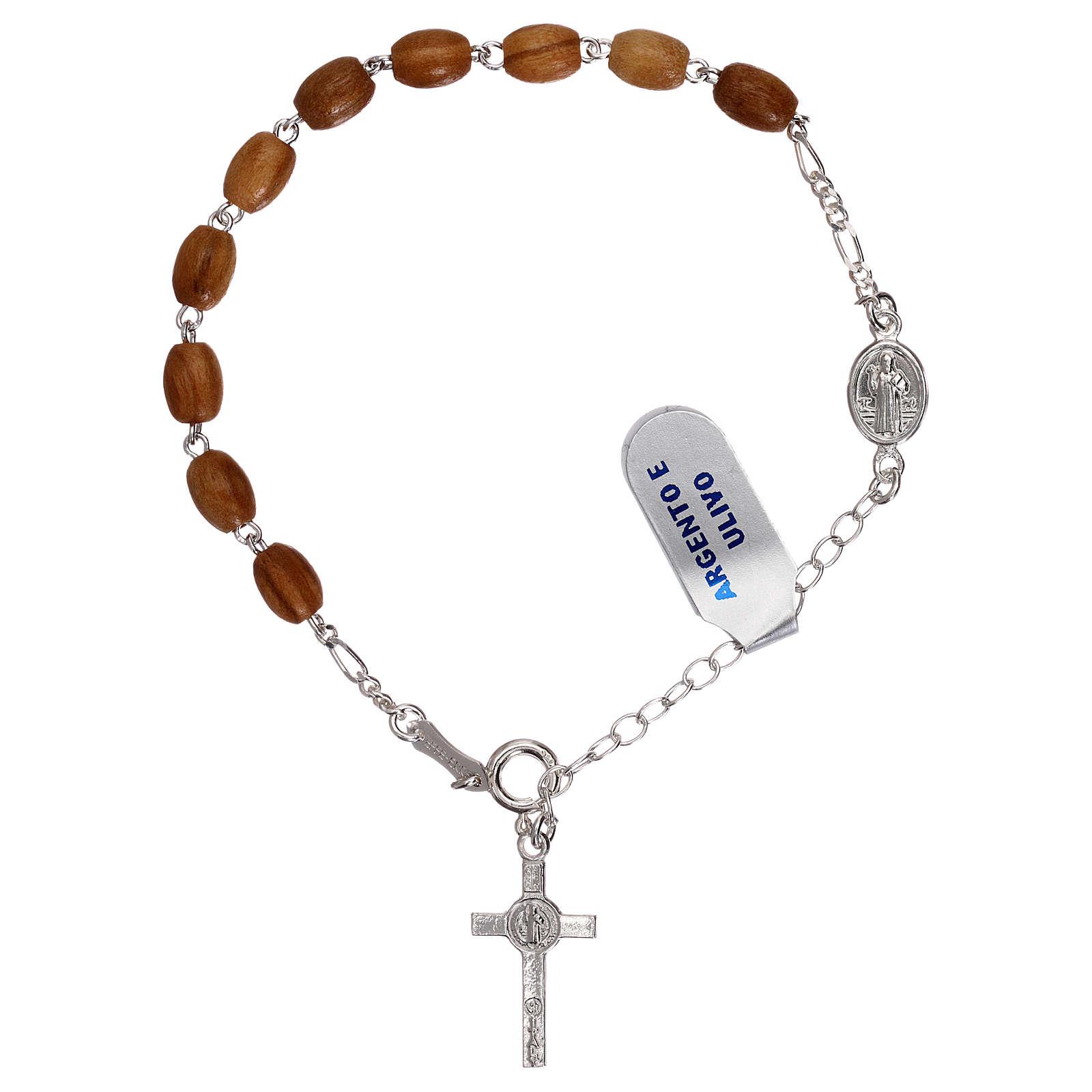 Bracciale rosario pater S. Benedetto grani legno 4